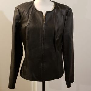 Pleather fitted black jacket